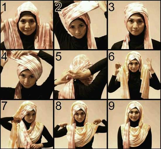 آموزش بستن چندین مدل شال و روسری برای خاص بودن